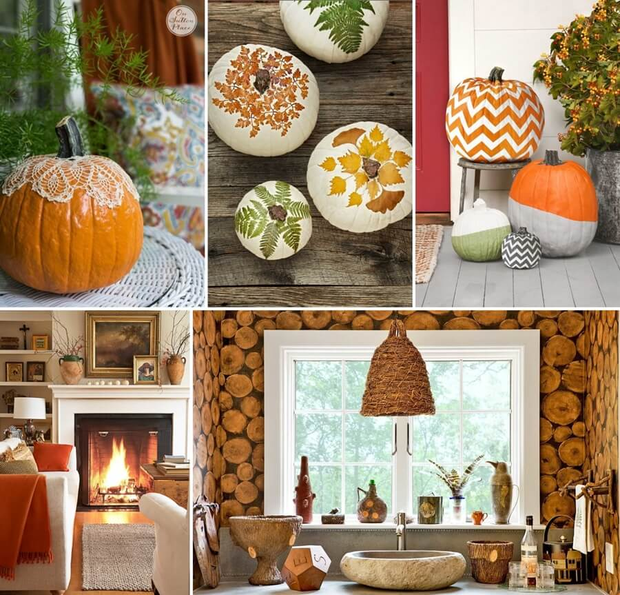 40 cozy fall home decor ideas for your inspiration for Fall decorations for the home