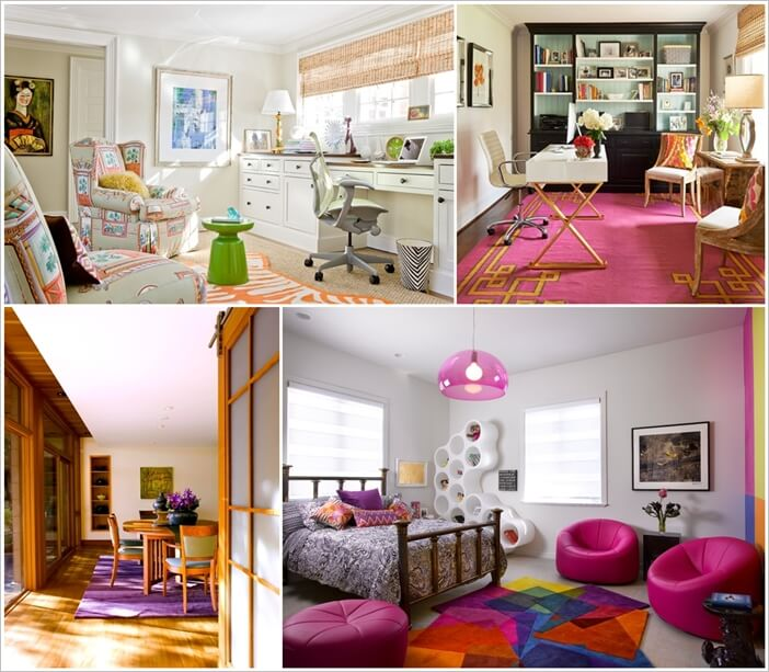 Cheerful and Colorful Area Rugs for White Walls 1