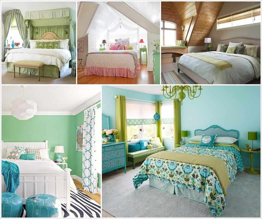 Refresh Your Bedroom's Decor with Green Color 1