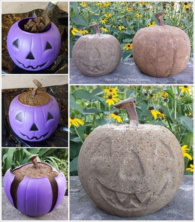 This Concrete Pumpkin Idea is Simply Superb 1