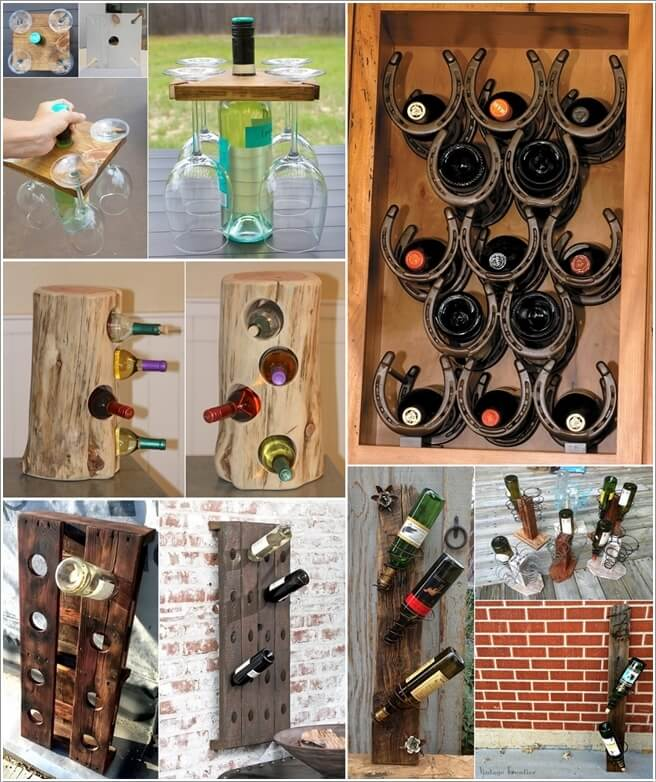 10 cool diy wine bottle holders for you to make