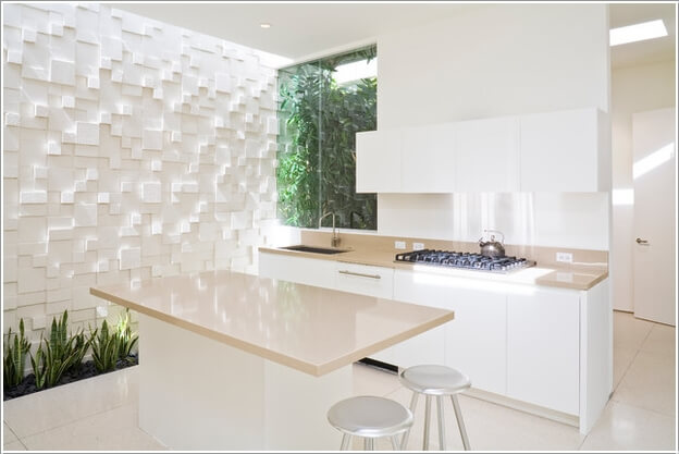 10 cool kitchen accent wall ideas for your home for 3d wallpaper for kitchen walls