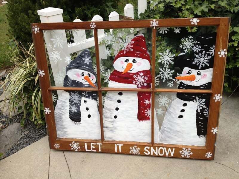 10 cute snowman crafts to try this winter for Decoration fenetre post it