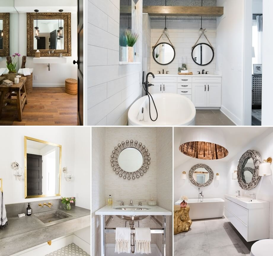 10 wonderful mirror styles for your bathroom for Bathroom mirror styles