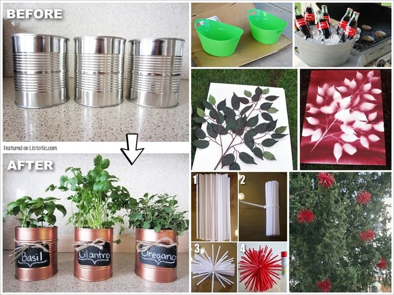 29 ways to use spray paint for giving a makeover to things 1. Black Bedroom Furniture Sets. Home Design Ideas