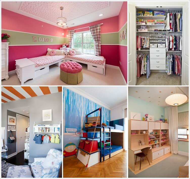 8 Clever Shared Kids Room Storage Ideas 1
