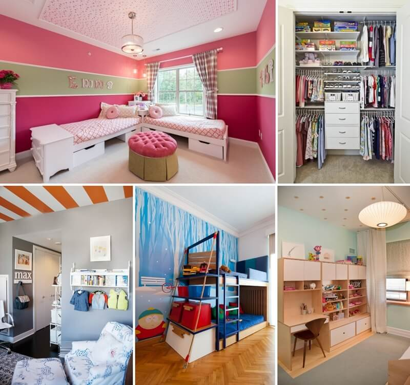 Room For Two Shared Bedroom Ideas: 8 Clever Shared Kids' Room Storage Ideas