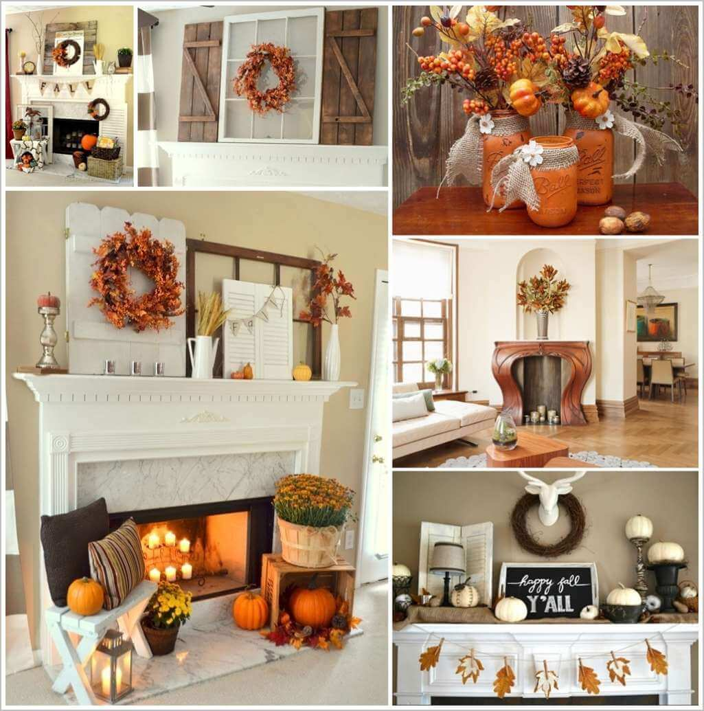 87 amazing fall mantle decor ideas for your home