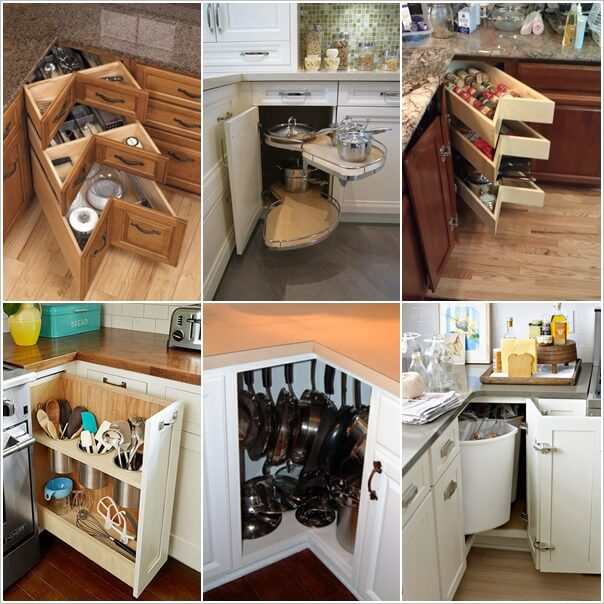 Clever Kitchen Corner Cabinet Storage And Organization Ideas 1