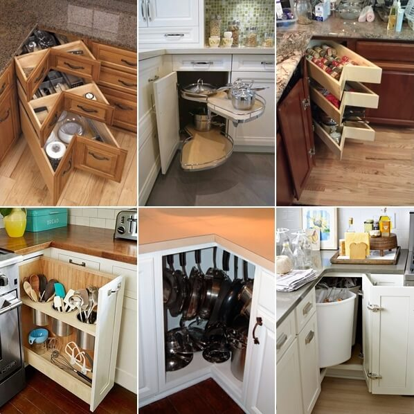 kitchen corner storage ideas clever kitchen corner cabinet storage and organization ideas 19365