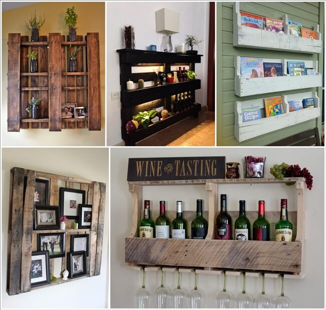 Creative Pallet Shelf Designs For Your Home 1