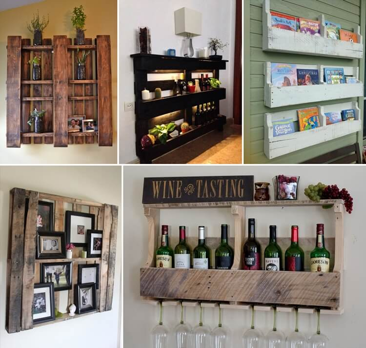 Pallet Shelves Ideas: Creative Pallet Shelf Designs For Your Home