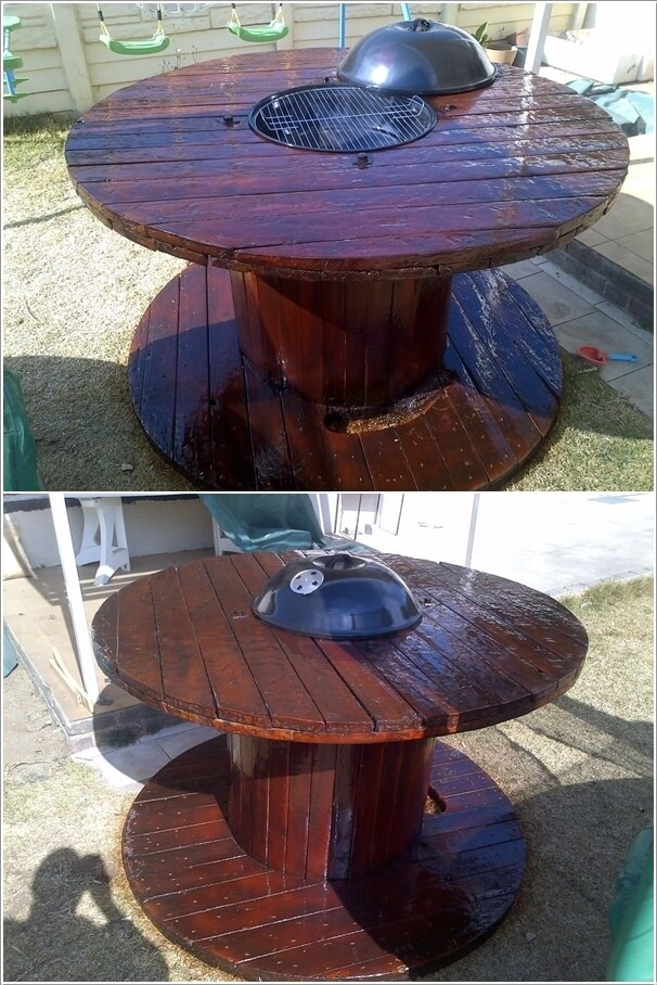 10 cable spool tables that are simply awesome for Wooden wire spool ideas