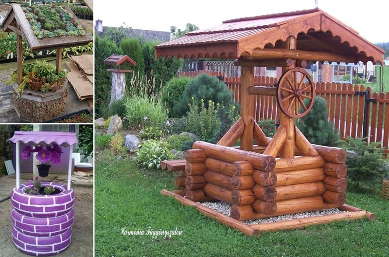 10-creative-garden-wishing-well-ideas-for-your-home-fi Garden Design With Tires on paving with tires, ponds with tires, landscape with tires, trees with tires, retaining walls with tires, planting with tires, landscaping ideas with tires, art with tires,