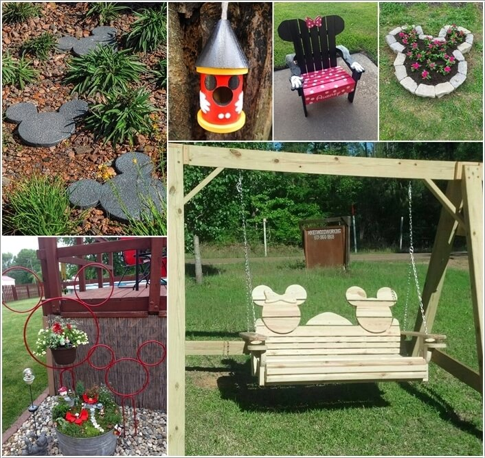 Mickey mouse garden decor house decor ideas for Patio accessories ideas