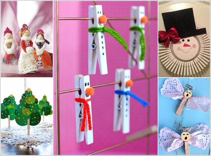 10 Super Cute Holiday Clothespin Crafts