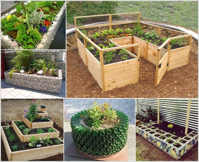 10 unique and cool raised garden bed ideas for Small garden bed ideas