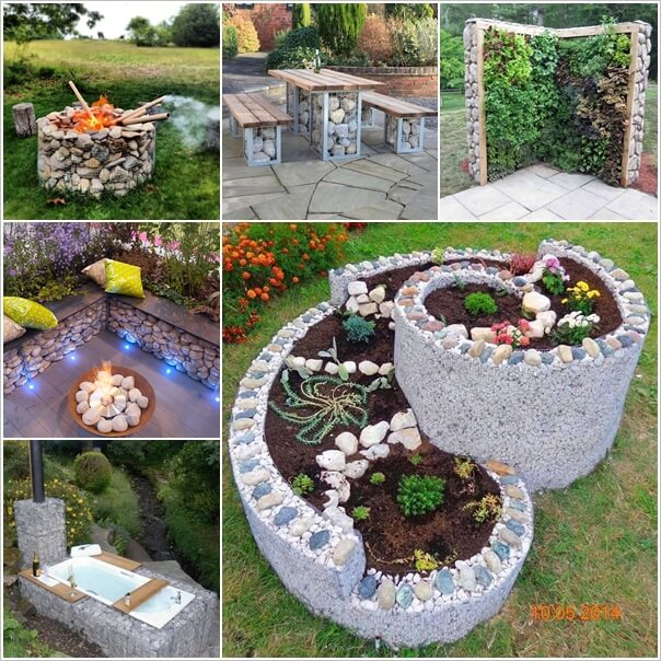 5 Ways To Add Landscape Lighting To Concrete Hardscaping: 15 Wonderful Outdoor Hardscaping Ideas With Gabions