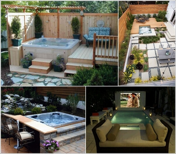 20 relaxing outdoor jacuzzi ideas you will admire for Outdoor jacuzzi ideas