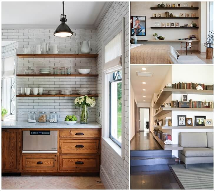 8 ways to decorate with floating shelves rh amazinginteriordesign com Contemporary Floating Shelves houzz bathroom floating shelves