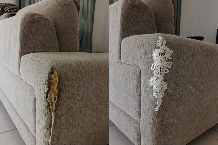 Awesome Repair Your Torn Or Cat Scratched Couch In Style Interior Design Ideas Gresisoteloinfo