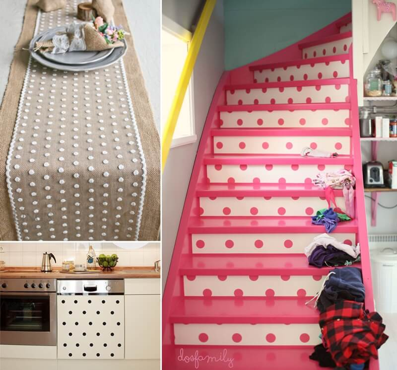 Fun polka dot home decor ideas for Polka dot decorations for bedrooms