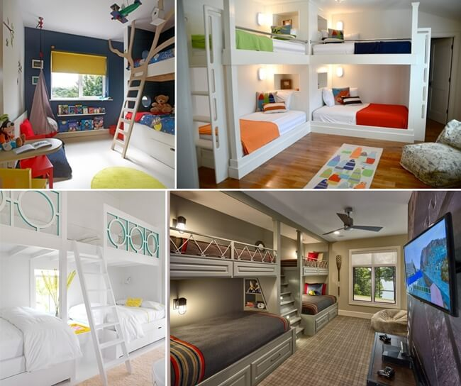 10 Cool Built-in Bunk Bed Rail Ideas