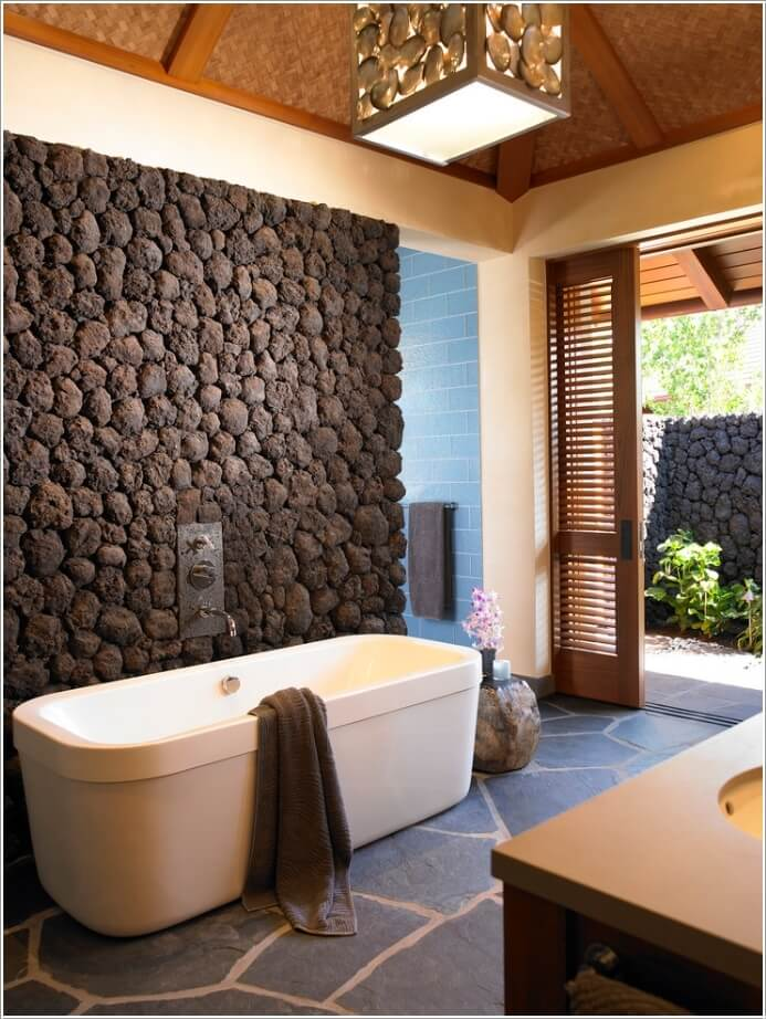 13 Amazing Accent Wall Ideas For Your Bathroom 8 Contemporary Guest Bathroom Decor Ideas