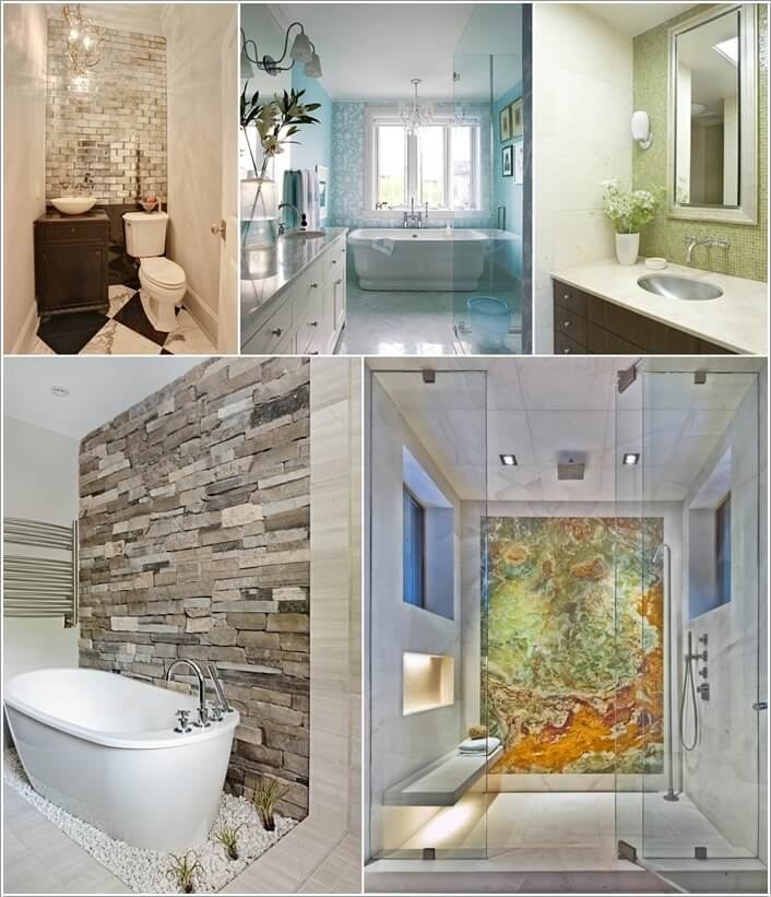 Bathroom Accent Wall: 13 Amazing Accent Wall Ideas For Your Bathroom