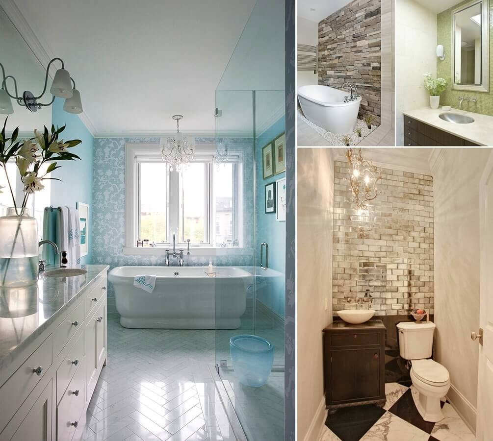 13 amazing accent wall ideas for your bathroom for Bathroom accent ideas