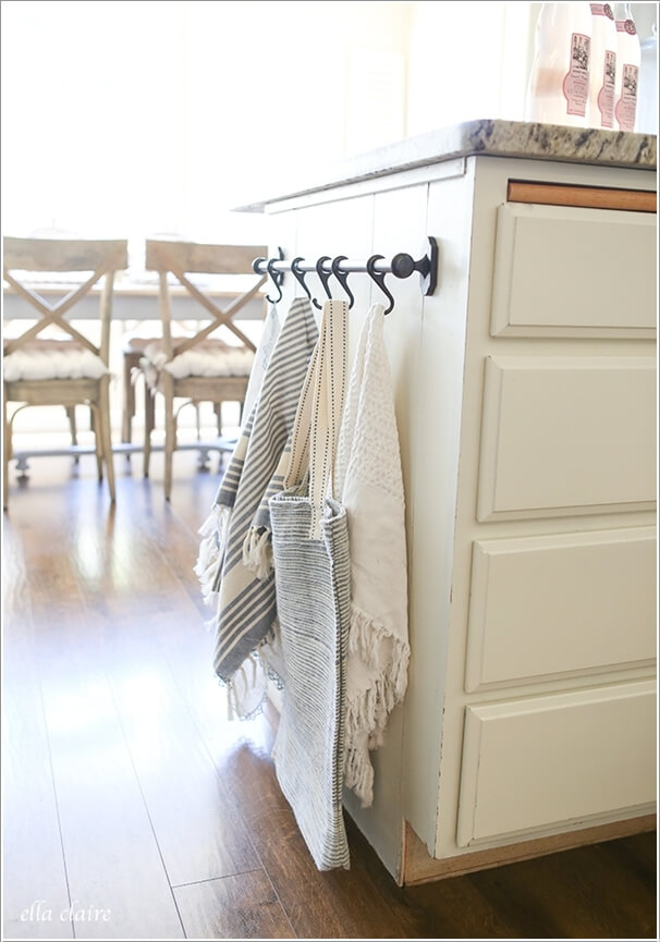 15 Clever Kitchen Towel Storage Ideas