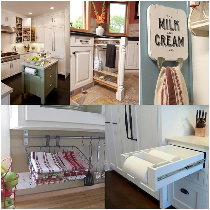 15 Clever Kitchen Towel Storage Ideas A