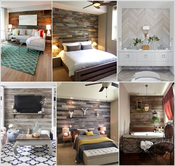Wood Accent Wall Patterns: 16 Wonderful Wood Accent Wall Designs