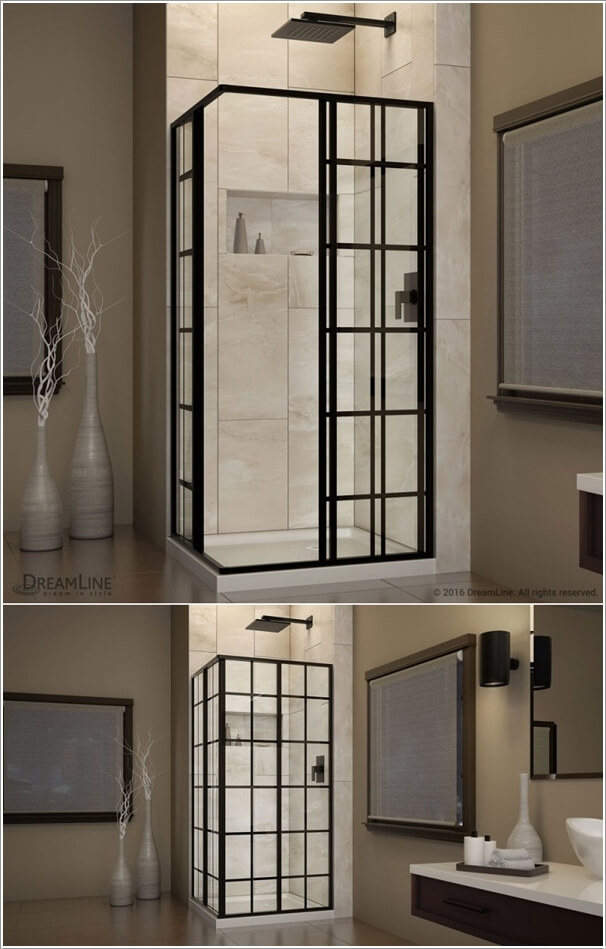 brushed hinged corner dreamline enclosure inch en x unidoor p home in shower nickel frameless