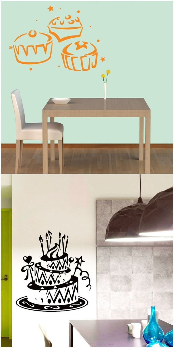 Paste Food Inspired Decals On The Walls Of Your Kitchen Or Dining Room