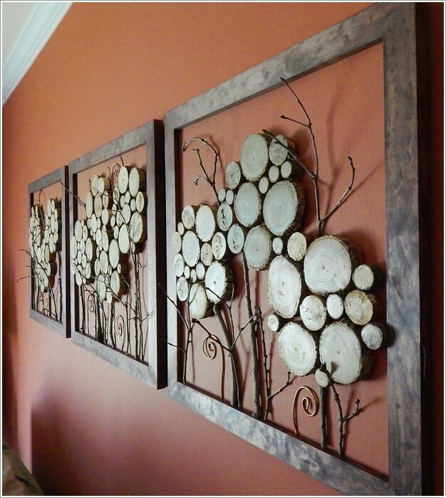10 log slice wall art ideas you would love to try