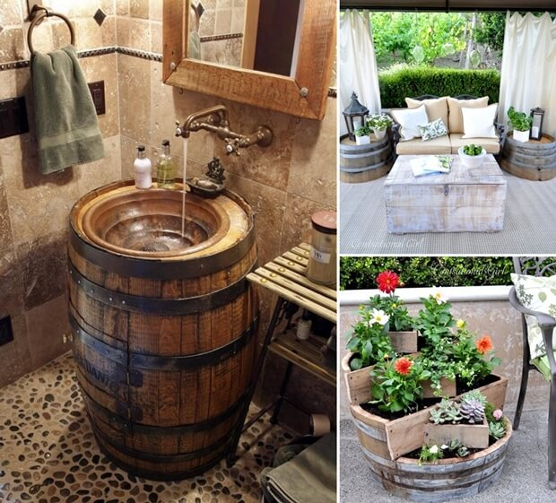 13 Cool Ways To Decorate Your Home With Recycled Wine Barrels