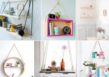 21 Space-Saving DIY Hanging Shelf Ideas fi