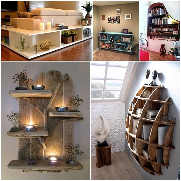 Unique Shelving pull focus in your home with a unique shelving design