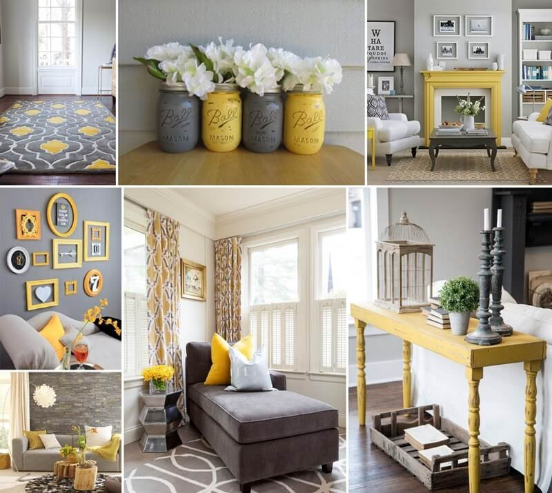 Style your living room in gorgeous gray and yellow for Yellow and grey living room ideas