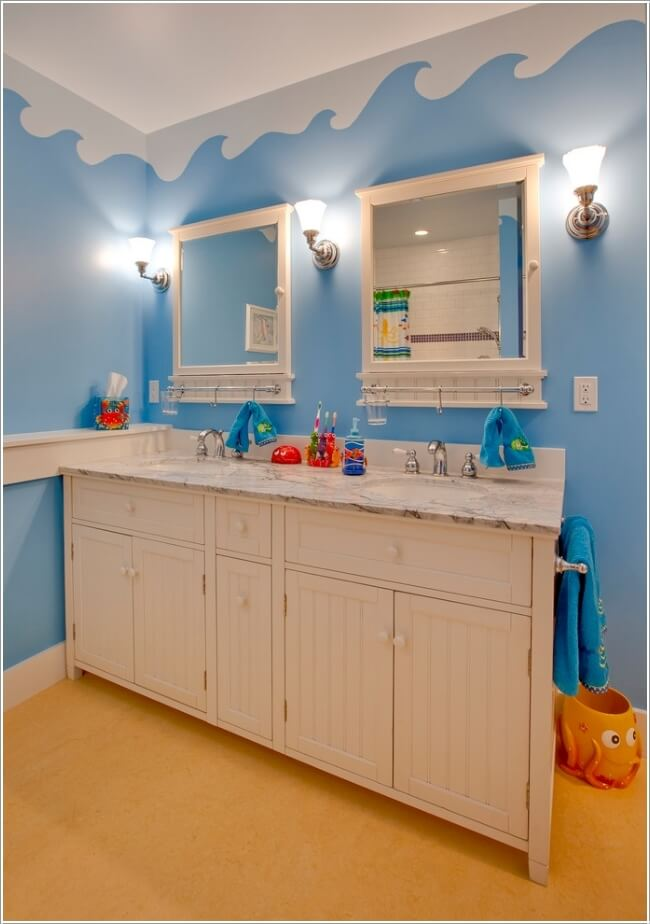 10 cute and creative ideas for a kids 39 bathroom for Bathroom color theme ideas