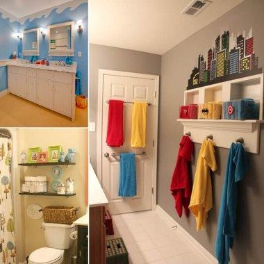 Interior design diy ideas home decor for Cute bathroom ideas for kids