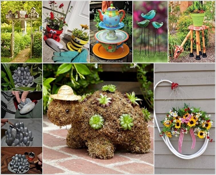 Cute Garden Ideas nice cute garden decor 40 creative diy ideas to repurpose old tire into animal shaped 10 Cute Garden Accent Ideas You Will Admire
