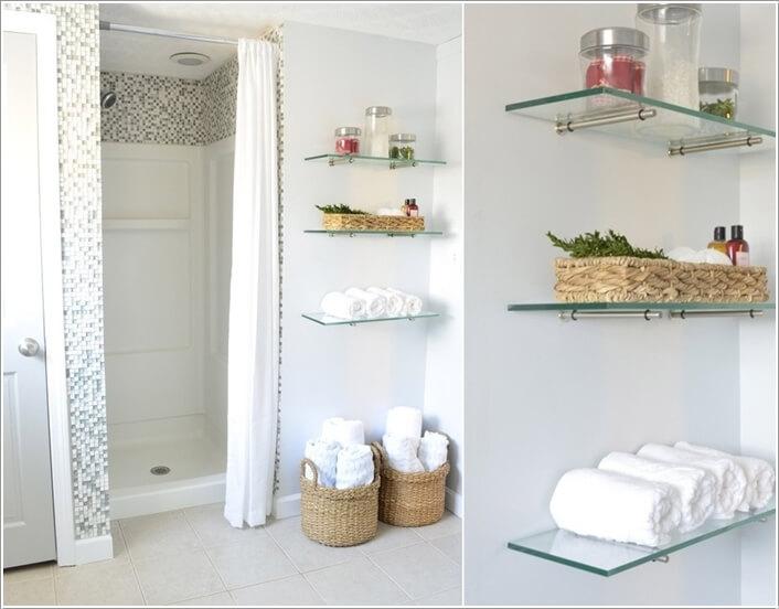 Install Glass Shelves For A Modern Feel