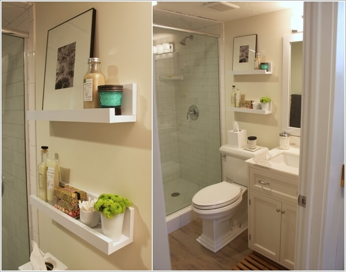 Picture Ledges Can Be Great Too For Bathroom Storage Purpose