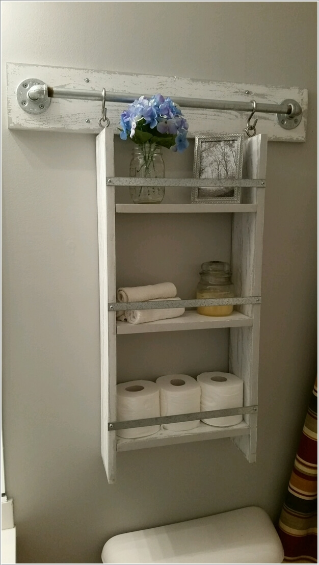 15 diy bathroom shelving ideas that can boost storage for Bathroom storage design ideas