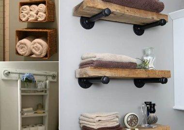 15 DIY Bathroom Shelving Ideas That Can Boost Storage fi
