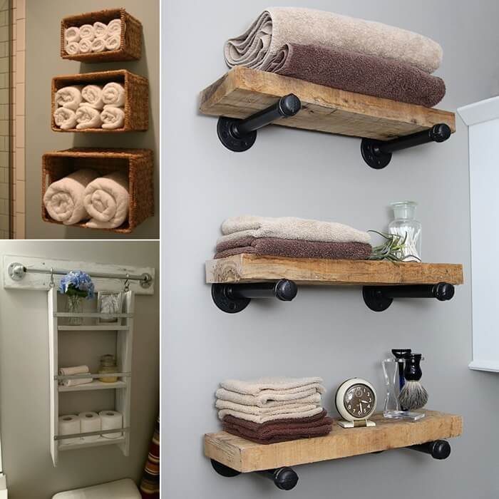 15 diy bathroom shelving ideas that can boost storage Easy diy storage ideas for small homes
