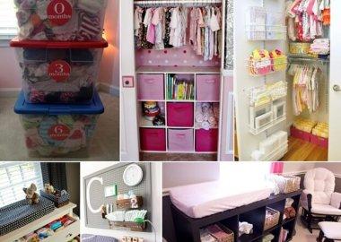35 Ways to Organize Your Baby Nursery fi