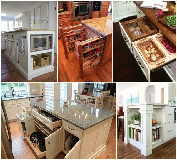 clever kitchen design.  39 Clever Kitchen Island Designs with Storage